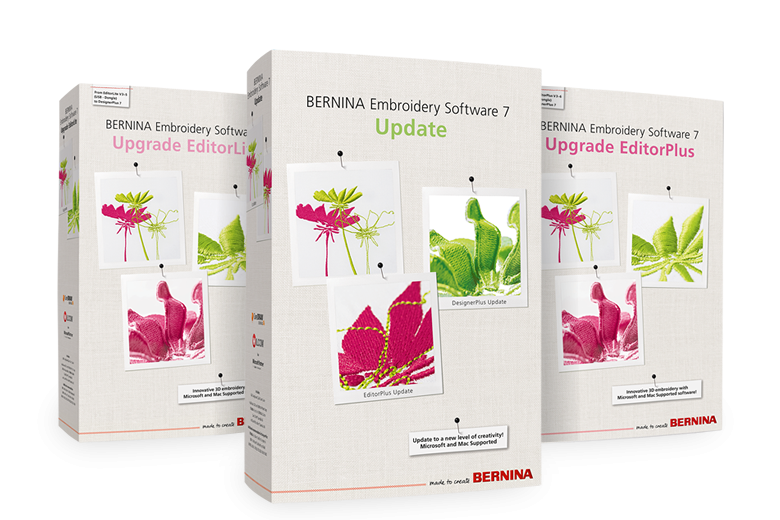Bernina Embroidery Software - EditorPlus UpGrade to V7.0