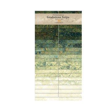 Northcott - Stonehenge - Graduations Strips - Robin's Egg - 40 x 2 1/2 Strips