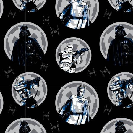 Camelot Fabrics - Star Wars - Characters in Circles Flannel
