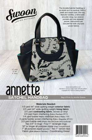 badb3b1ae93c View Large Image · Swoon Sewing Patterns - Annette - Satchel Handbag