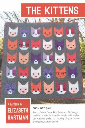 Elizabeth Hartman - The Kittens - 66 x 66 Quilt Pattern