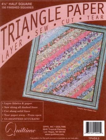 Quiltime - Triangle Paper 4-1/2 Half Square