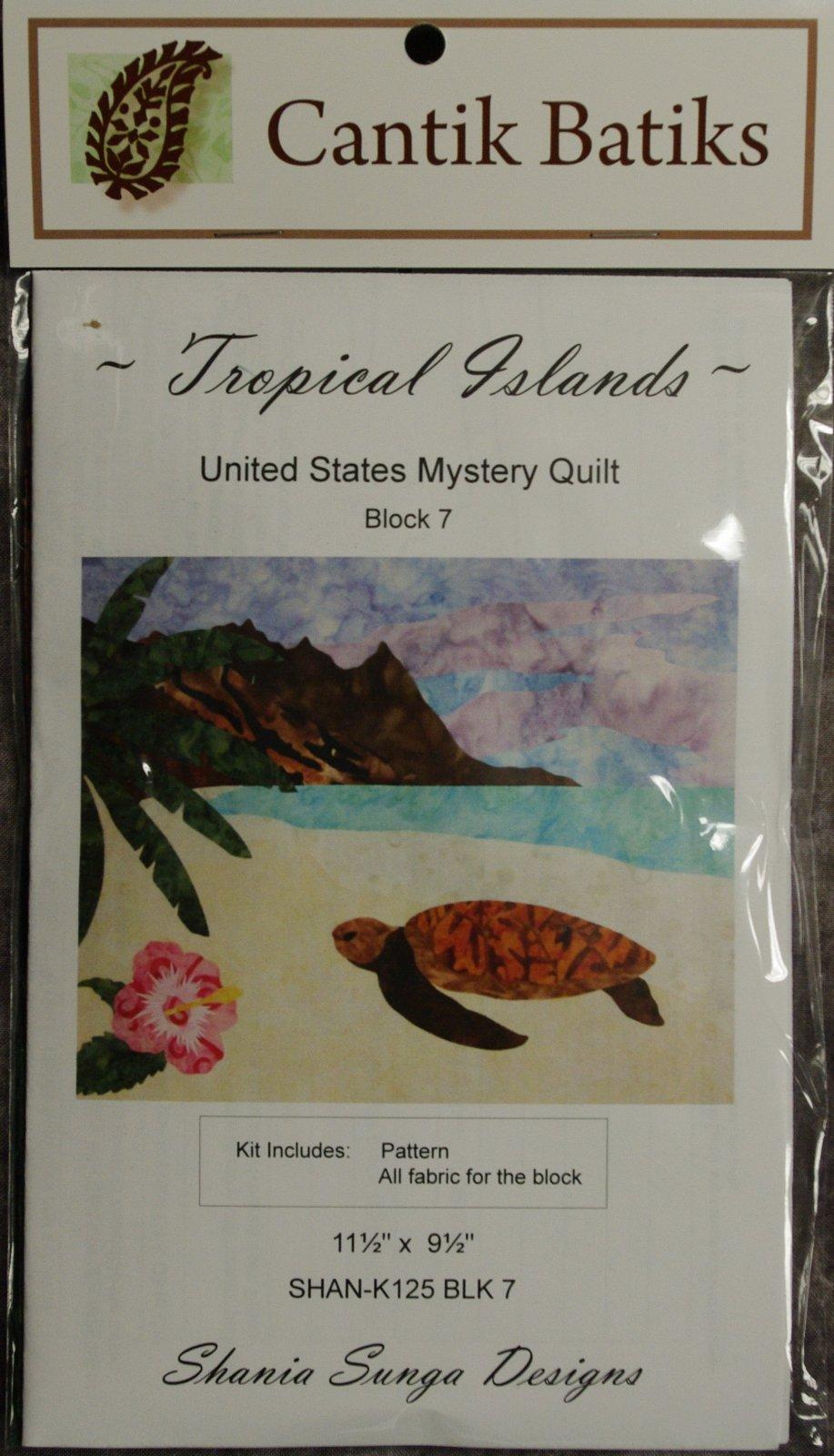 Cantik Batiks United States Mystery Quilt - Tropical Island - Block 7 Kit