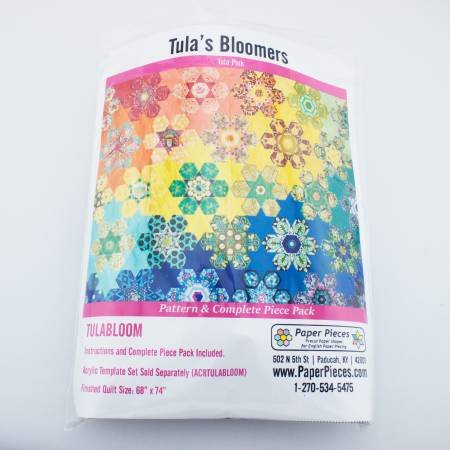 Tula Pink - Tula Bloomers - Pattern and Complete Paper Peice Pack - Finished Size 68 x 74