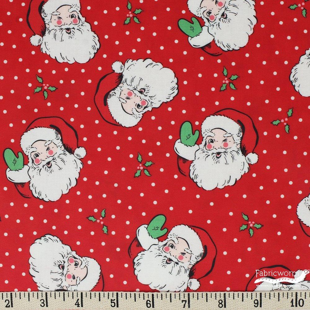 Moda - Urban Chiks - Swell Christmas - Santa - Red - (Laminated Cotton)