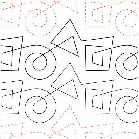 Quilting Elements - Kandinsky - Petite - Tear Away - 4.5  Wide Pattern