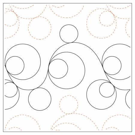 Quilting Elements - Double Bubble - Petite - Tear Away - 6 Wide Pattern