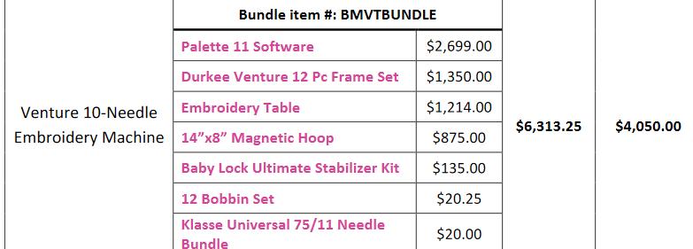 Babylock Venture Bundle