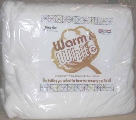 Warm Company - Warm & White - 100% Cotton - King (120 x 124)