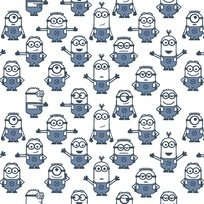 Quilting Treasures - 1 in A Minion - Graphic Set Minions - White