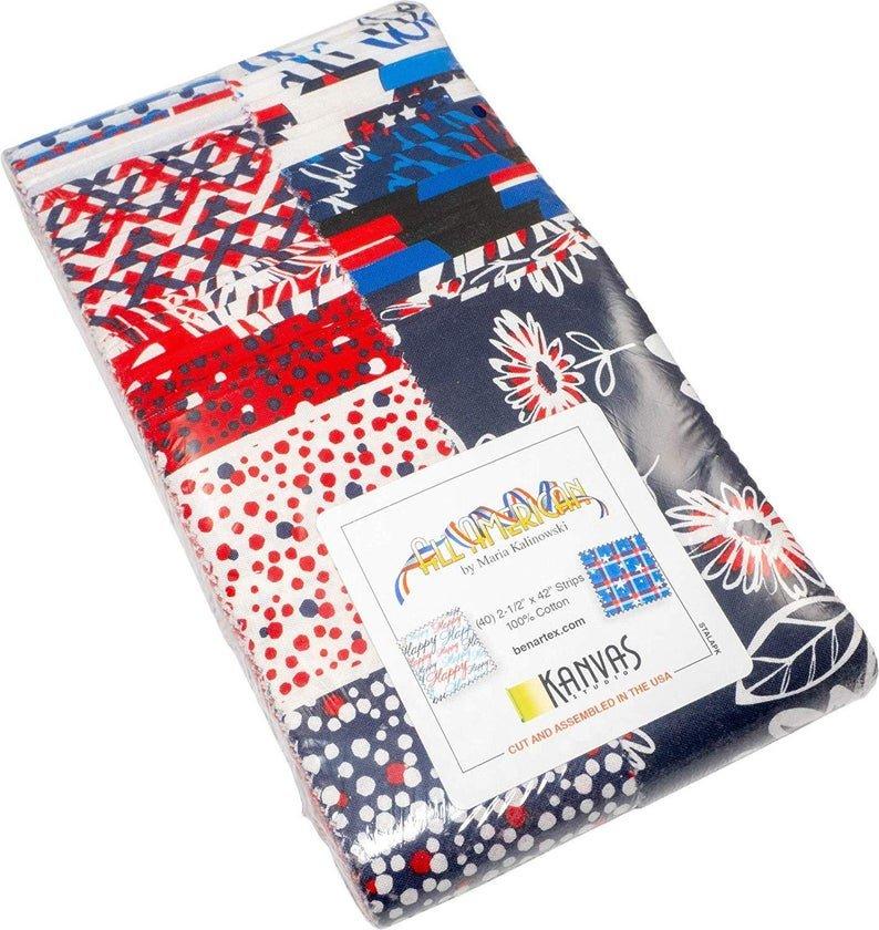 All American Jelly Roll by Kanvas for Benartex Fabrics