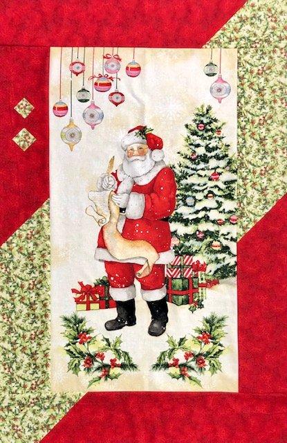 Santa Panel Quilt 35 x 54
