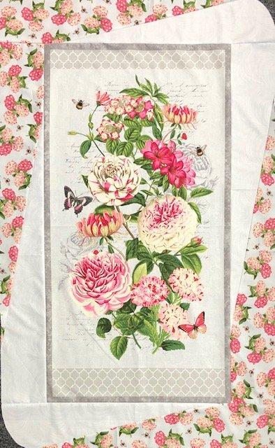 Floral Panel Quilt 32 x 52