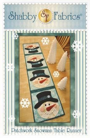 Shabby Fabrics Patchwork Snowman Table Runner