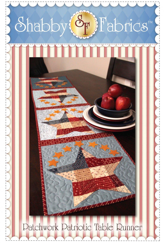 Shabby Fabrics Patchwork Patriotic Table Runner