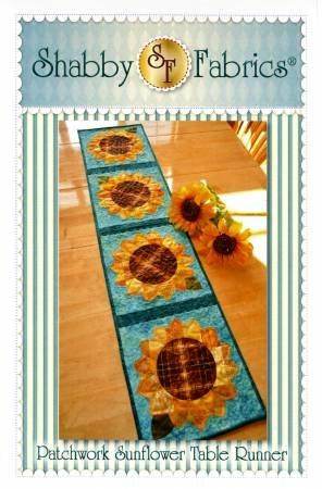 Shabby Fabrics Patchwork Sunflower Table Runner