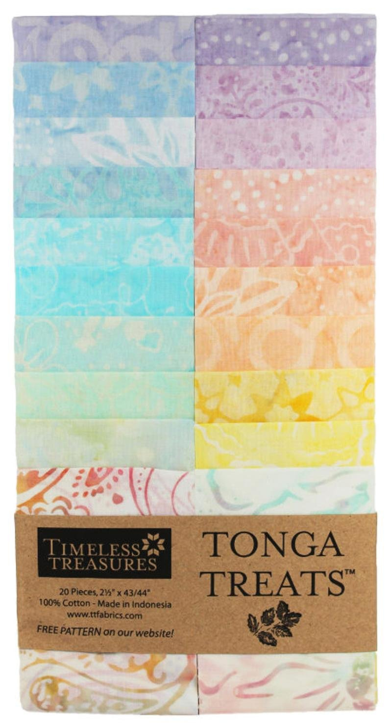Timeless Treasures Tonga Treat Strip Butter Cream Jelly Roll