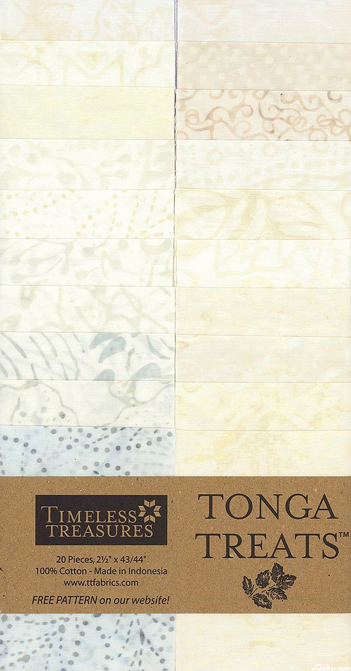 Timeless Treasures Tonga Treat Strip Coconut Jelly Roll