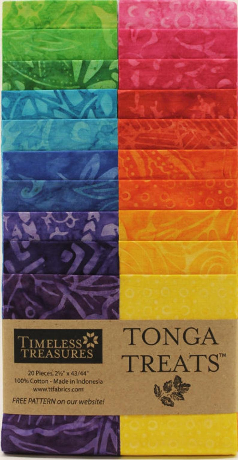Timeless Treasures Tonga Treat Strip Dazzle Jelly Roll
