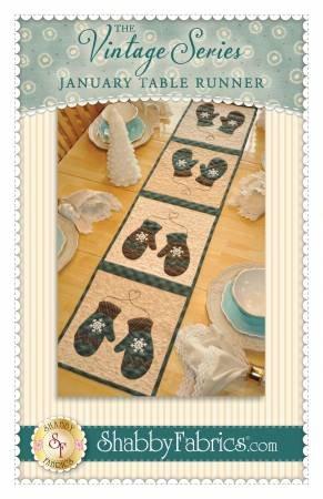 Shabby Fabrics Vintage Series January Mittens Table Runner