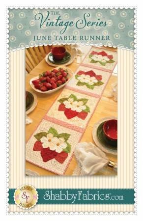 Shabby Fabrics Vintage Series June Strawberry Table Runner