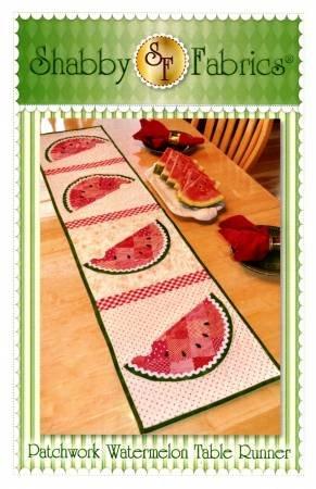 Shabby Fabrics Patchwork Watermelon Table Runner