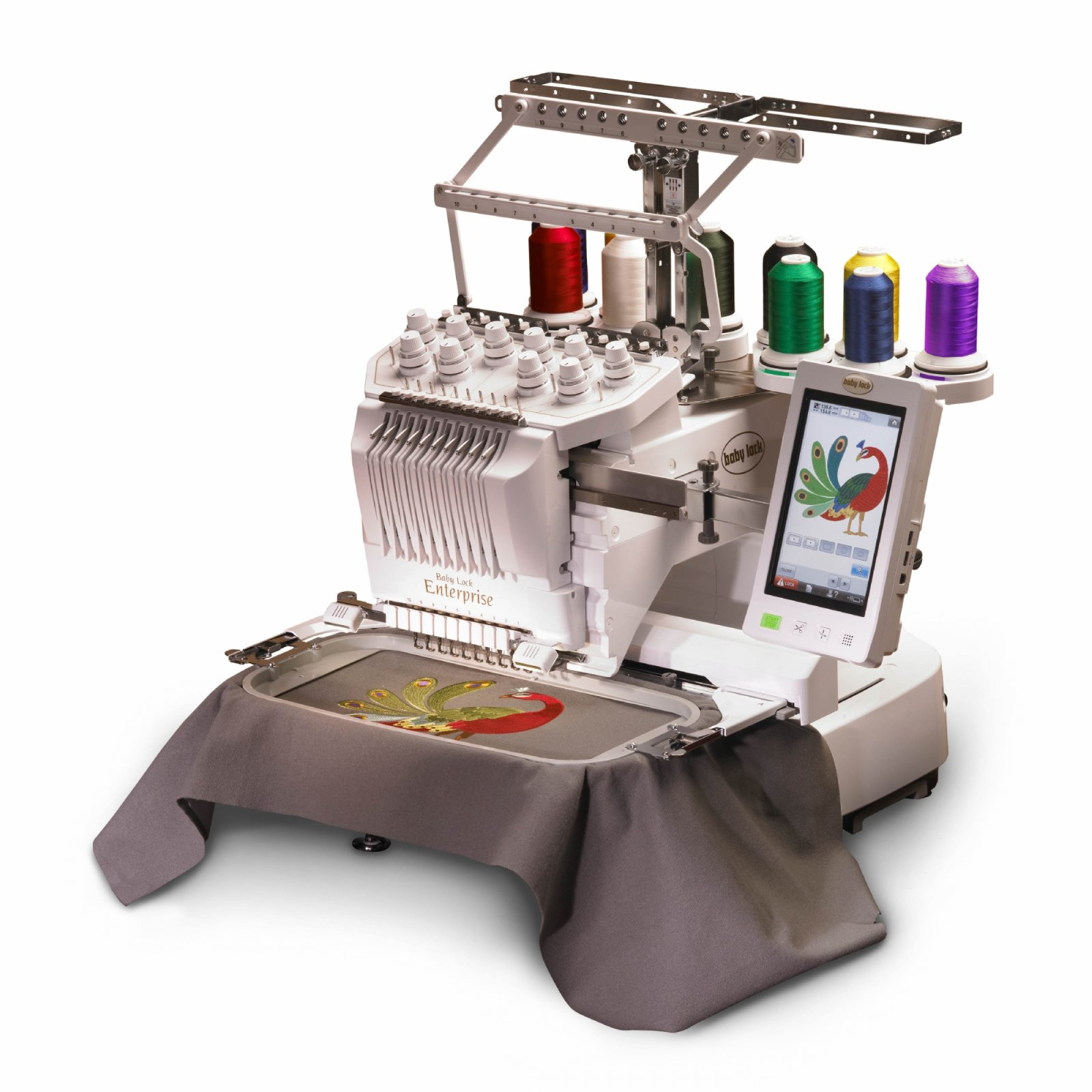 MACHINE-BABYLOCK-ENTERPRISE 10 NEEDLE EMBROIDERY MACHINEW/ EMBROIDERY TABLE