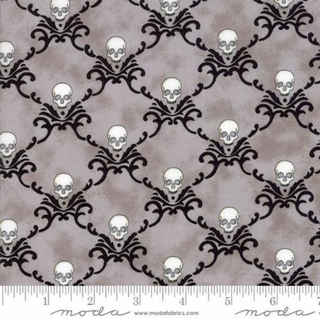 EERILY ELEGANT - SKULLS ON GRAY