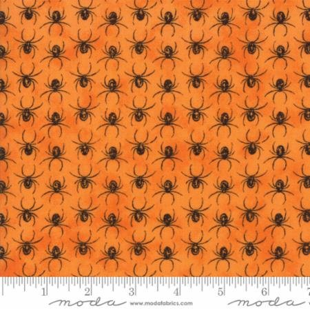 EERILY ELEGANT - SPIDERS ON ORANGE