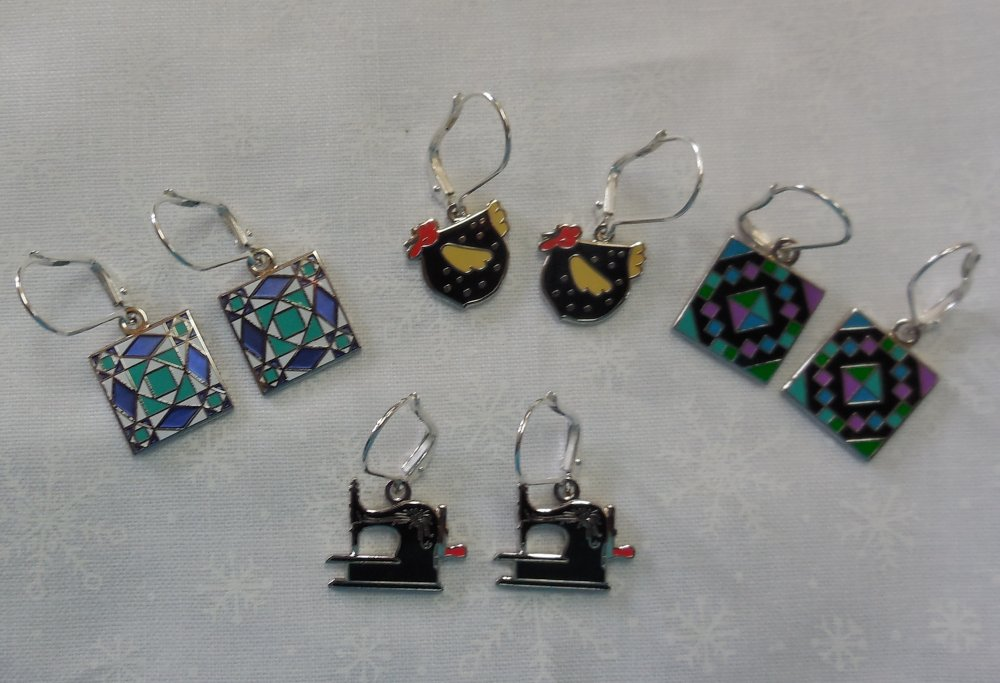 Earrings from Speckled Hen Quilts