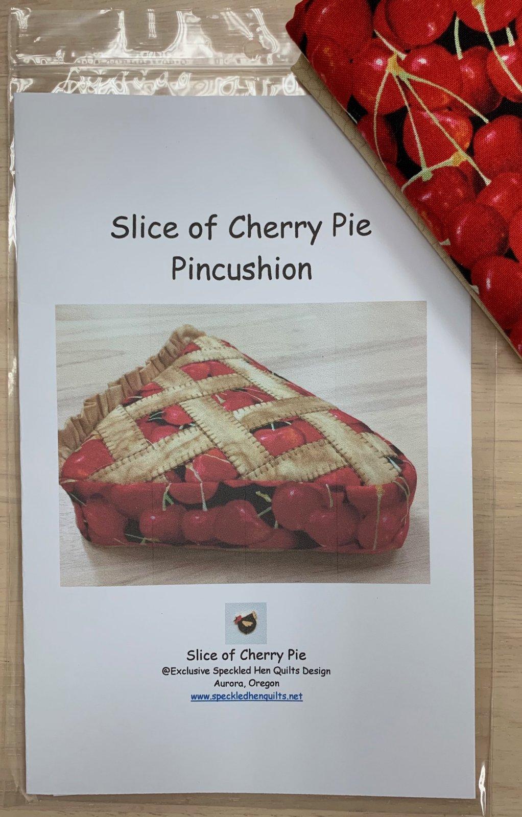 Slice of Cherry Pie Pincushion