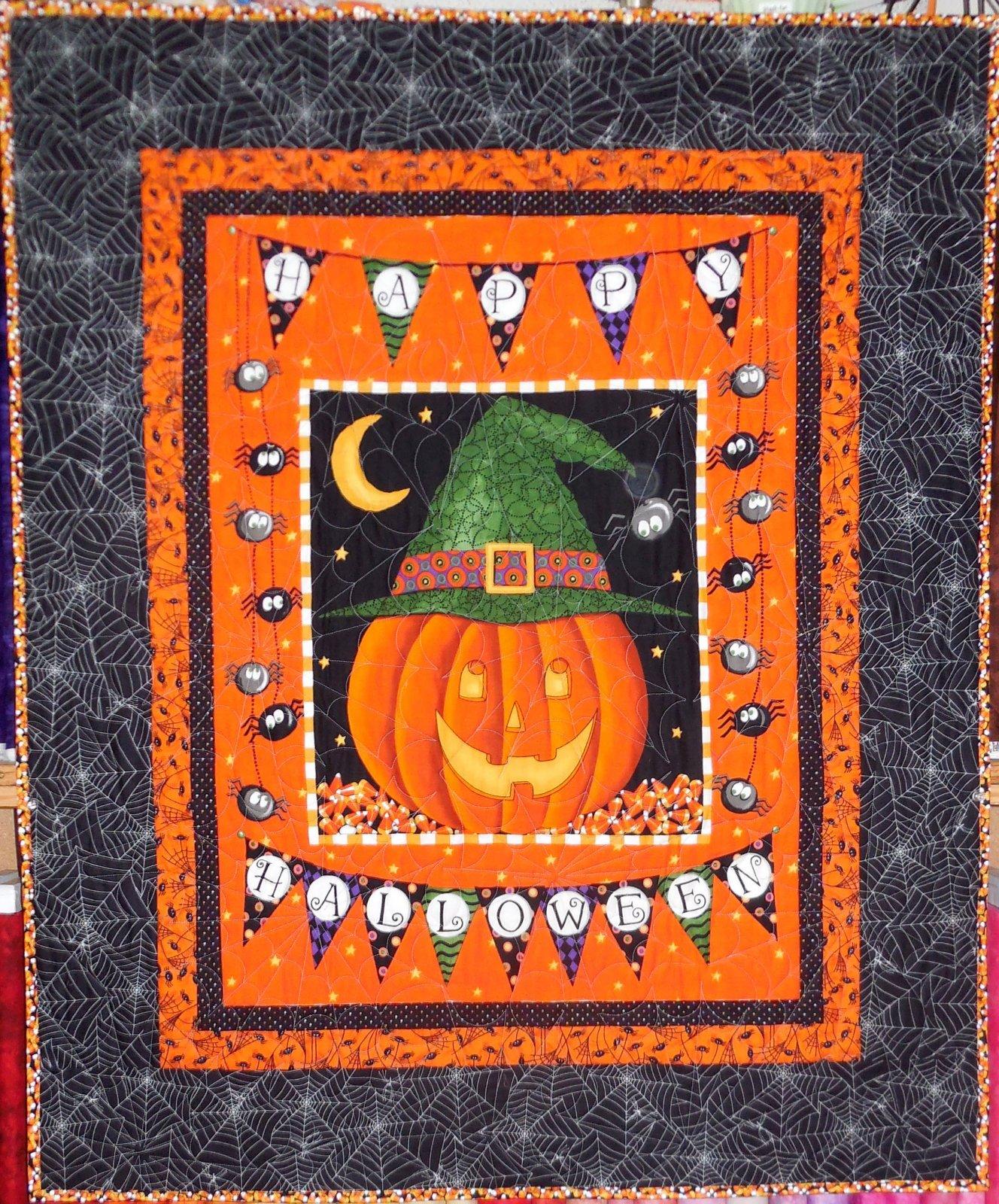 Happy Halloween Panel Quilt