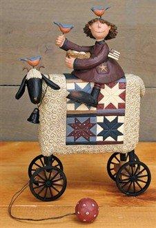 Girl  Riding on Sheep