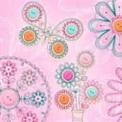 Blooming Buttons OESD Machine Embroidery Design set Plymouth WI The Sewing Basket