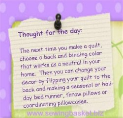 The Sewing Basket fabric store tip of the day