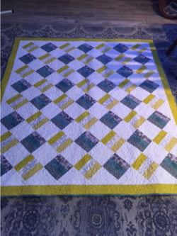 rail fence quilted throw