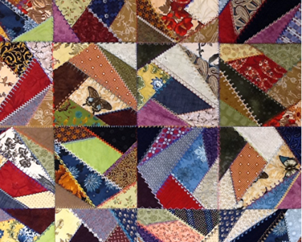 Crazy Quilt using My Decorative Quilter software by Floriani