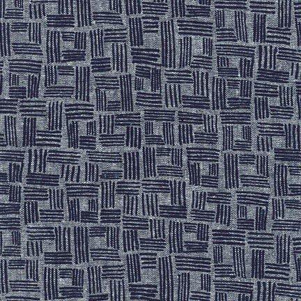 Forage Fabric by Robert Kaufman Indigo AFH17983-62