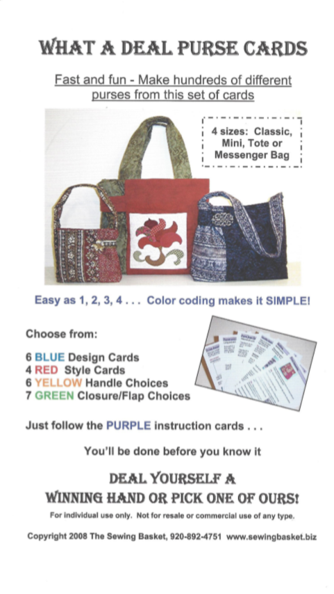 What a Deal Purse Cards Pattern