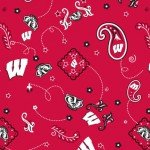 Wisconsin football Badgers sewing fabric
