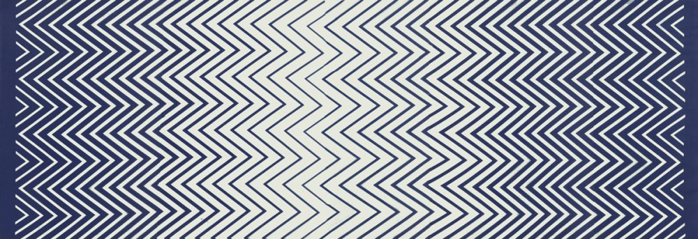 Simply Style Metro Zig Zag Ombre Navy Blue