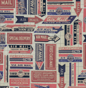 Correspondence Airmail Red by Tim Holtz