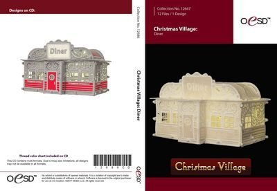 Christmas Village Diner Embroidery CD