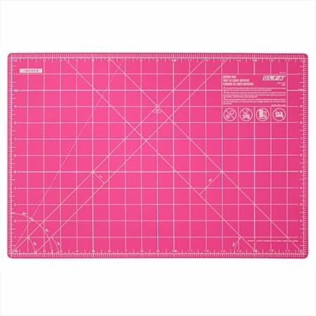 Olfa Rotary Mat 12 x 18 Pink