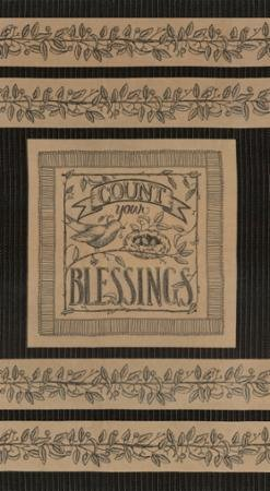 Count Your Blessings Panel Chamois