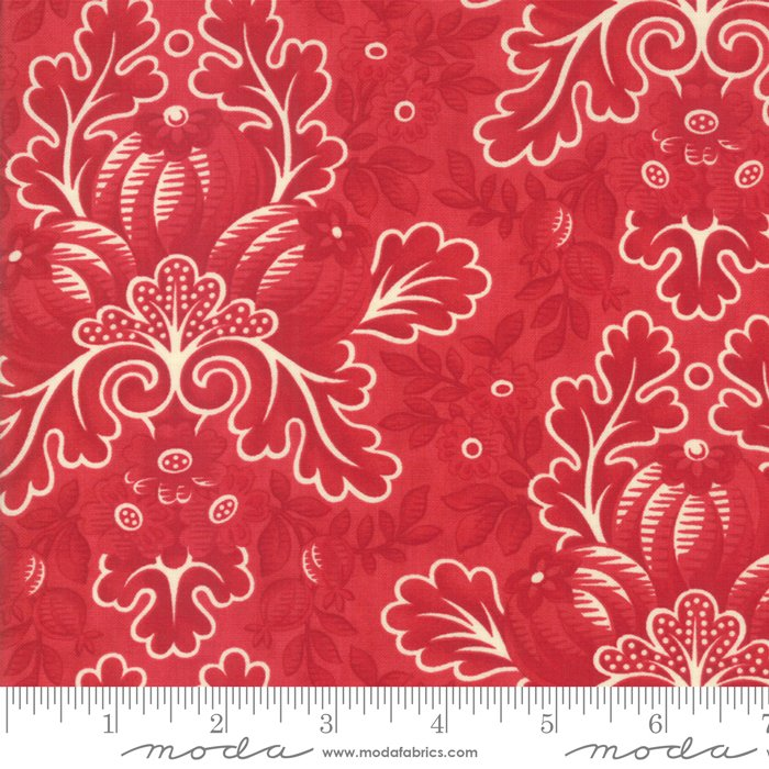 Cinnaberry Damask Cranberry 44200 13 by 3 Sisters