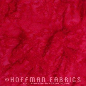 Hoffman Batiks Bali Watercolors Red 1895-5