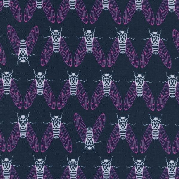 Raindrop Cicada Song Teal by Rashida Coleman-Hale Cotton + Steel