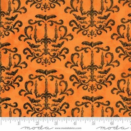 Eerily Elegant Damask Vintage Pumpkin 19812 13