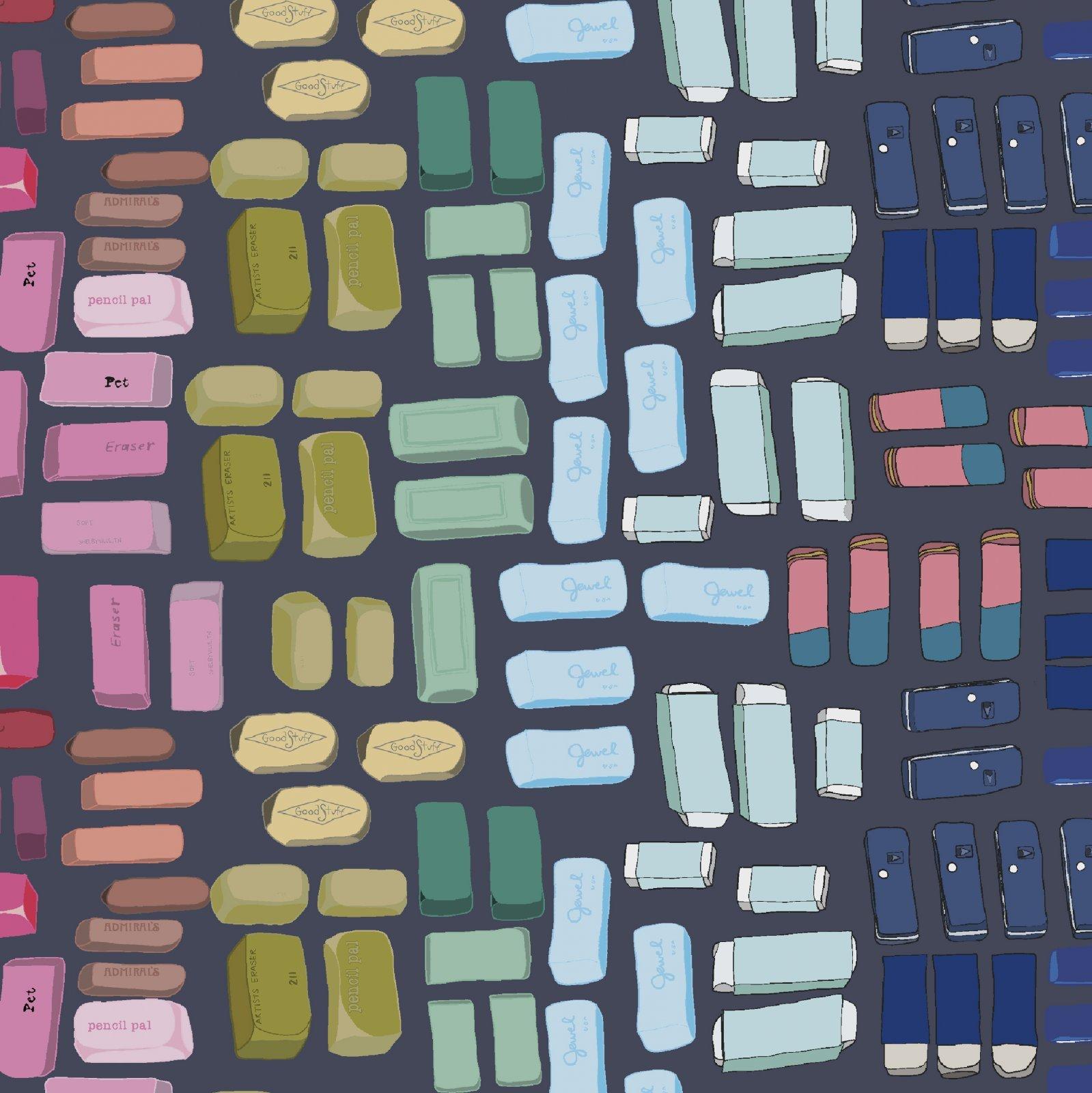 Pencil Club Erasers Slate Grey Digital 5180D-2 by Heather Givans